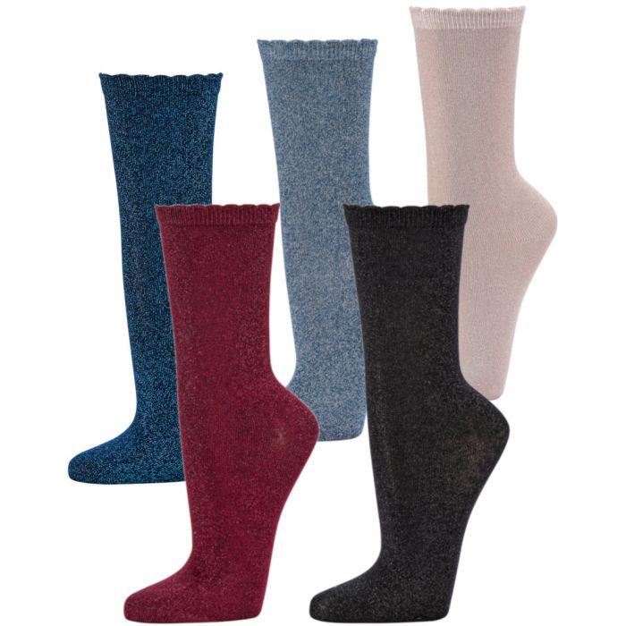 Topsocks bamboe sokken met lurex glitters