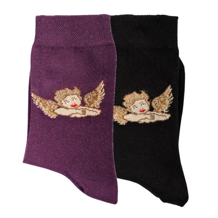 Topsocks damessokken met engeltjes