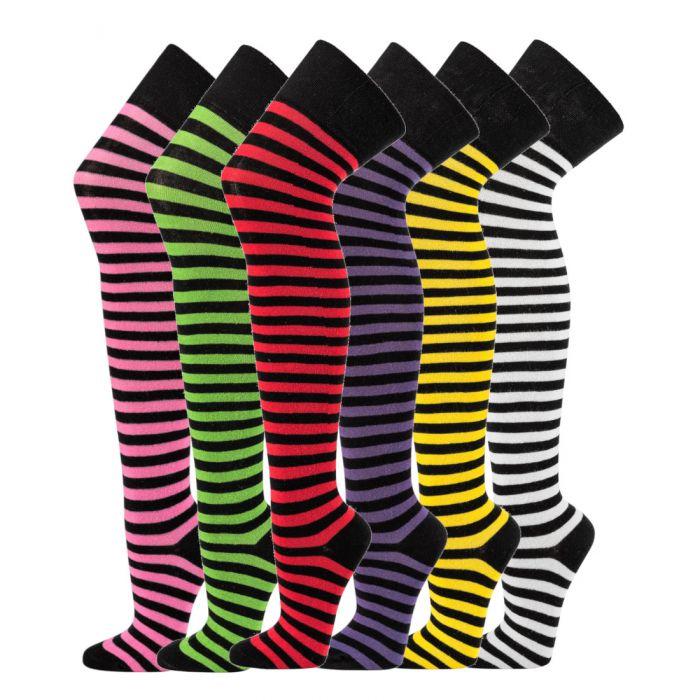 Topsocks overknee sokken ringels